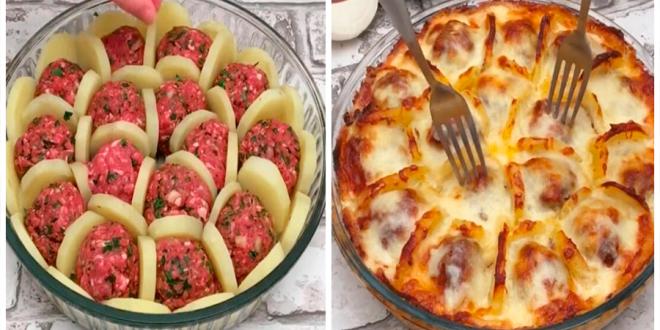 Photo of Almôndegas com batatas e molho branco – receita perfeita para o final de semana