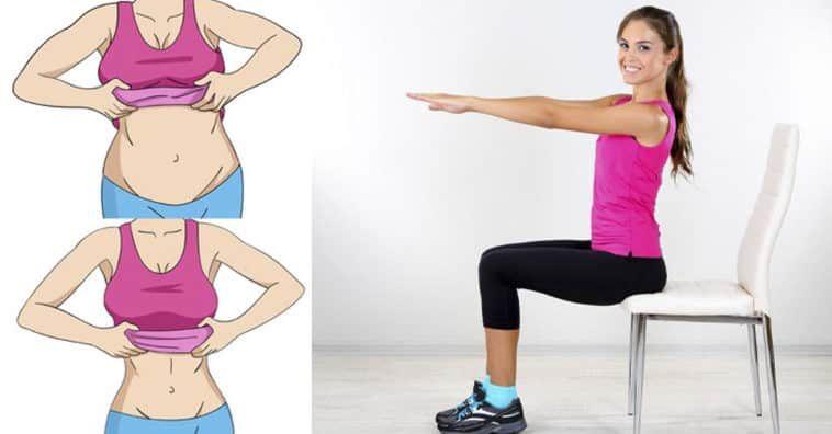 Photo of 7 exercícios para diminuir a barriga em três semanas usando apenas uma cadeira